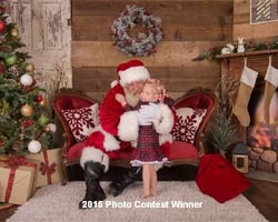 majestic santa suit with girl