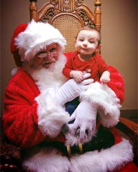 professional santa suit with boy