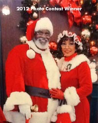 professional santa suit with mrs claus