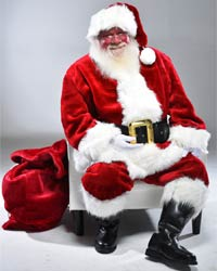 santa claus with bag picture