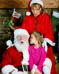 santa claus picture grimacing girl 2016