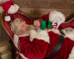 santa claus sleeping picture