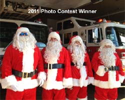 santa claus picture old tappan fire dept 2011