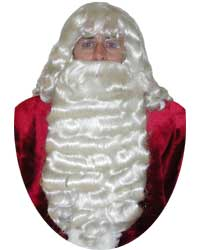 authentic santa beard wig