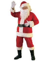 cheap flannel santa suit costume