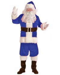 blue santa suit costume